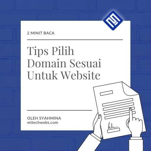 Tips Pilih Nama Domain mitechwebs.com